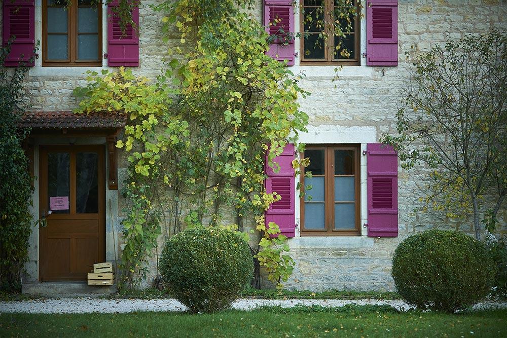 Le Château de la Linotte à Roche-sur-Linotte - détail fenêtres