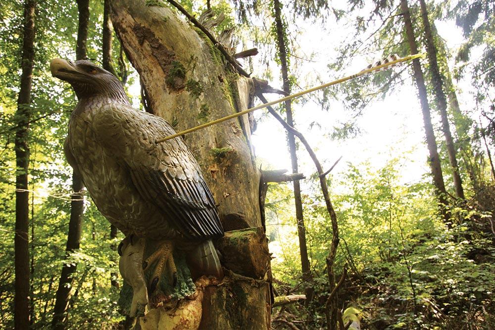 Tir à l'arc à Roche-sur-Linotte - Cible aigle