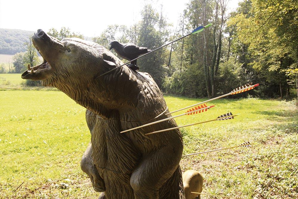 Tir à l'arc à Roche-sur-Linotte - Cible ours