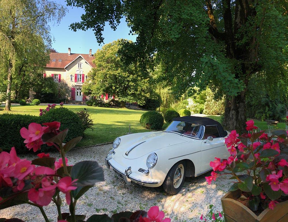 Porsche au Château de la Linotte en Haute-Saône