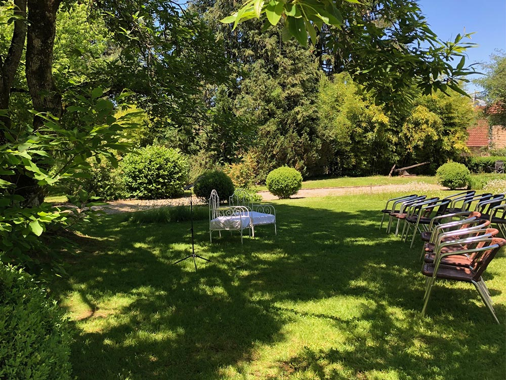 Lieu de réception en Bourgogne-Franche-Comté - Cérémonie extérieure